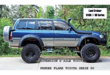Set Toyota land cruiser serie 80 Wide Extended Black Protector Fender Flares