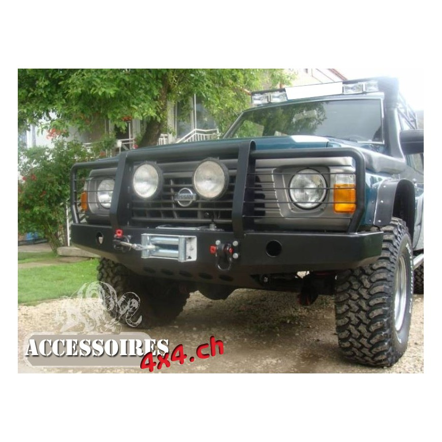 2005 Jeep Grand Cherokee >> Bullbar removable - Nissan Patrol Y60 - ACCESSOIRES4X4.CH