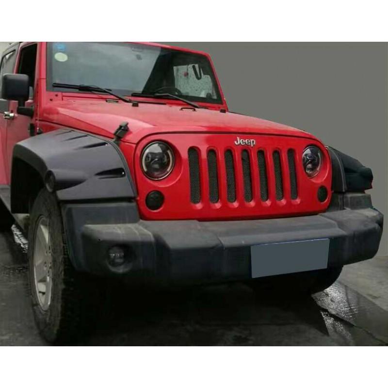 set jeep wrangler jk 2007 2014wide extended black. Black Bedroom Furniture Sets. Home Design Ideas