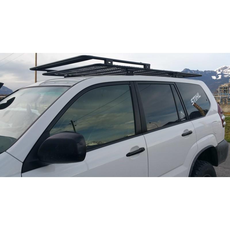galerie de toit pour tente de toit en acier 220 cm toyota 120 accessoires4x4 ch. Black Bedroom Furniture Sets. Home Design Ideas