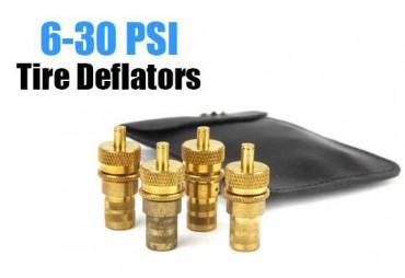 4PC Deflatori set kit automatico del pneumatico valvola 6 – 60 PSI