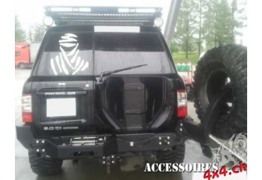 Paraurti posteriore supporto per winch Nissan Patrol Y61