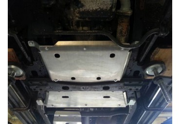 Reduced aluminium skid plate nissan Y61