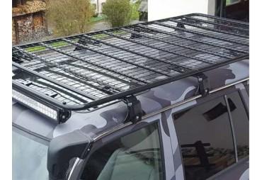 Galerie de toit en acier pour véhicule équipé de gouttière