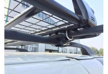 Coppia regolabile di portapacchi da tetto a croce quadrata in acciaio 120 cm