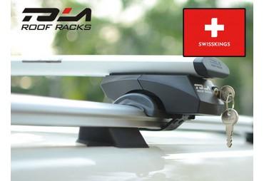 Universal roof bars for raise rail