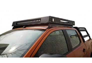 STEEL ROOF RACK 135 cm  (assemblee model) - Led included - Pick up Ford Ranger T6-T7
