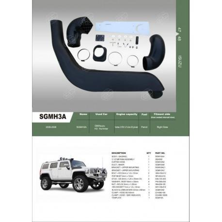 schnorchel hummer h3 accessoires4x4 ch. Black Bedroom Furniture Sets. Home Design Ideas