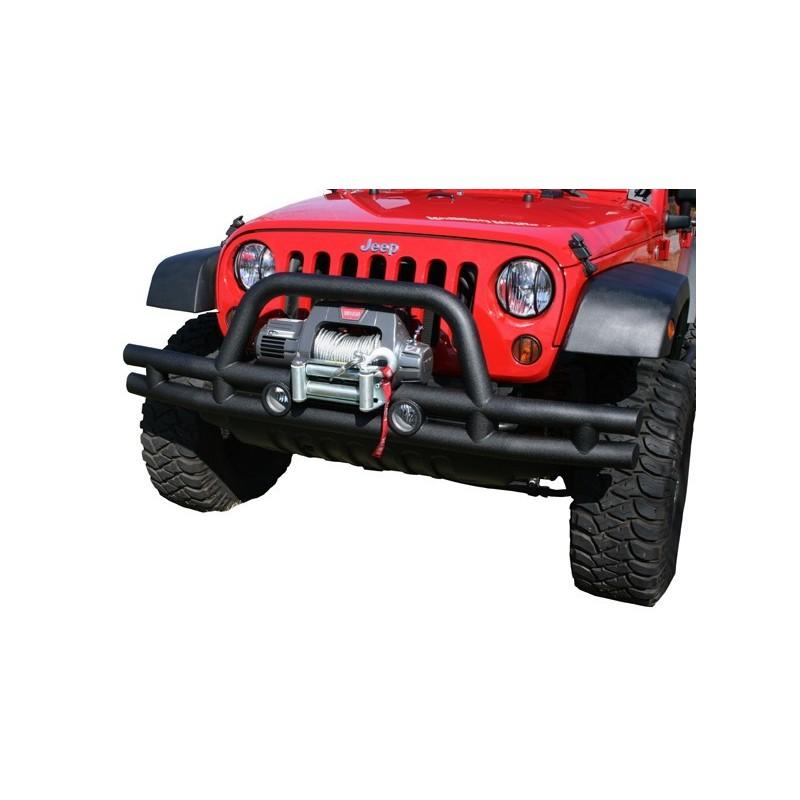 pare choc avant tubulaire 3 39 39 39 39 winch mount 39 39 jeep wrangler 07 16 accessoires4x4 ch. Black Bedroom Furniture Sets. Home Design Ideas