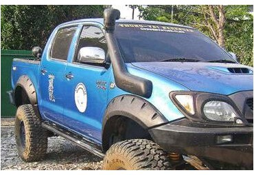 Set Toyota hilux Vigo 2005-2013 Wide Extended Black Protector Fender Flares