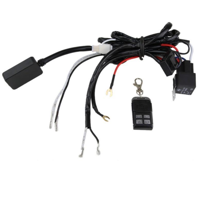 Kabelsatz für 2 Scheinwerfer LED mit Funkfernbedienung ...
