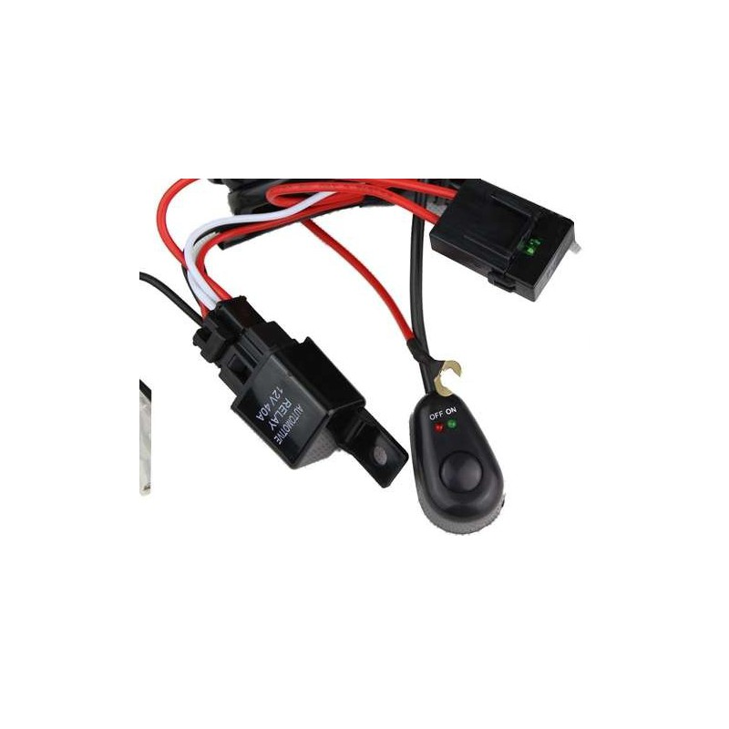 led light wiring harness whit switch and relay