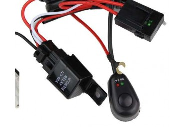 Câblage électrique pour deux barres à leds
